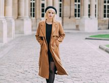 Lyloutte et son long manteau chic