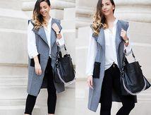 Look du jour : Casual en manteau sans manche