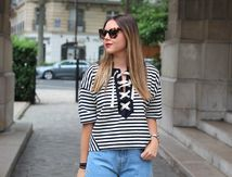 Look du jour : Le top marin lace-up