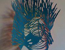 Anémochorie. Dessin découpé et peint