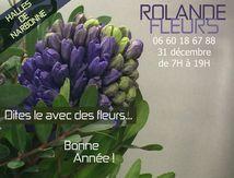 Bouquet fleurs réveillon jour de l'an Narbonne