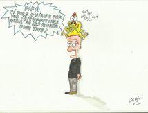 dessin caricature nouveau patron à la fifa!!