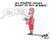 du nescafé chez les athlètes russes pour cacher les tests anti-dopage....