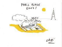 dessin paris plage 2017