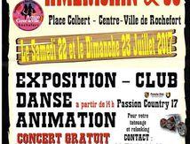 Journée country à Rochefort le 23 juillet 2017