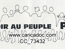 «POuvoir au peuple PSU», tract, 1968.