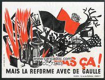 «Pas ça ! Mais la réforme avec de Gaulle», vignette, 1968.