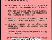 «Agissez Rejoignez les comités de défense de la République», tract, 1968.