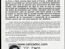 « Pourquoi un candidat PSU ? », tract, 1968.