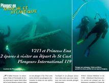 """""""Cap sur les Minquers, plongées sur le Princess Ena et le V213"""" n119 de Plongeurs International"""