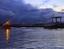 Le port de la Turballe de nuit