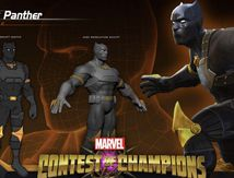 Black Panther en arène Marvel contest of champions