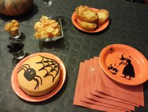 CUISINE : HALLOWEEN, menu orange et noir