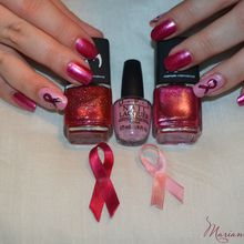 Nail art octobre rose 2013
