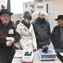 St Paul Trois Châteaux : marché aux truffes