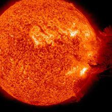 Pioggia di fuoco sul Sole