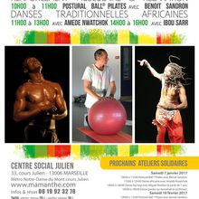 04/12/16 - Ateliers Solidaires danse africaine et Postural ball pilates -  Marseille