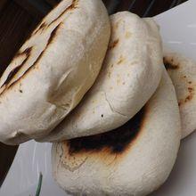 Pitas,  pains libanais  maison IG bas,petrissage en machine à pain