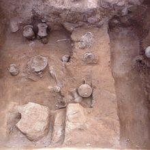 Découverte du squelette d'un guerrier décapité au Mexique