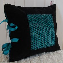 Coussins turquoise