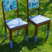 "Chaises ""heure bleue"""