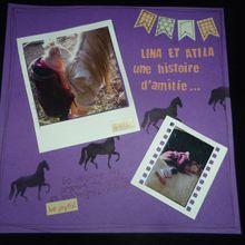 page de scrap Lina et Atila