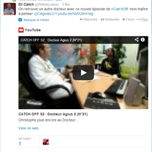 """Dr Catch"" encore retweeté par Christophe Agius!"
