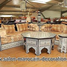 Salon marocain arabesque traditionnel