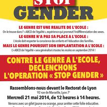 "Lyon manifestation contre le ""gender"" 21 mai"