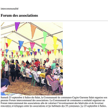 L'AAPPMA DU BAS SALAT PARTICIPERA AU FORUM DES ASSOCIATIONS DE LA COMMUNAUTÉ DE COMMUNES CAGIRE GARONNE SALAT DU 23 SEPTEMBRE 2017