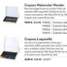 Les crayons aquarelles et les watercolors quittent le catalogues