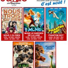 Les séances de cinéma à Jarzé en décembre 2015