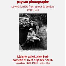 """Exposition """"La Grande Guerre de Marc Grazillier, paysan-photographe"""""""
