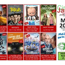 Programmation du cinéma de Jarzé pour le mois de mai