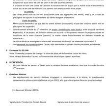 Conseil d'Ecole du 7 Avril 2014