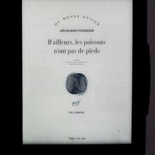 Un livre de Jón Kalman Stefánsson