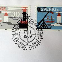 Timbres de phares suédois
