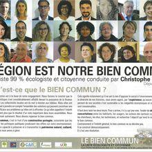 Élections régionales 2015, liste Le Bien Commun avec Christophe Cavard