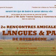 Les langues et patois de Bourgogne à Varennes-le-Grand