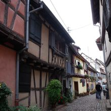 The old town of Eguisheim in Alsace
