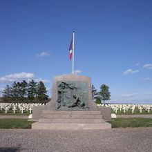 French WW1 military cemetery in Courbesseaux