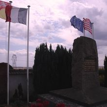 WW1 Monument in Bathelémont, dedicated to fallen American soldiers