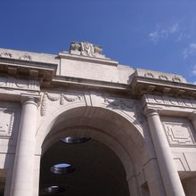 The Menin Gate Memorial in Ypres, Belgium