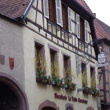 Kaysersberg in Alsace near Easter time