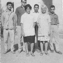 instituteurs à l'école de Tifra 1964