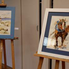"""Photos adhérents  expo """"pinceaux et couleurs"""""""
