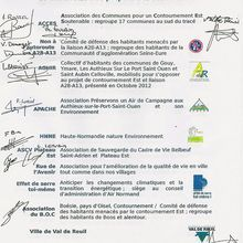 Signature du Collectif d'Associations ..