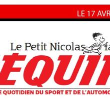 «Le Petit Nicolas» devient rédac chef de l'Equipe, enfin quand il se concentrera