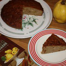 Delicious quince cake by Clea (gâteau au coing râpé, amande, épices & orange confite)