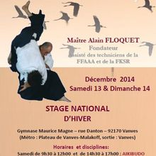 Stage national - 13 et 14 decembre